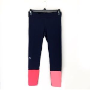✨Under Armour Navy and Pink Compression Leggings